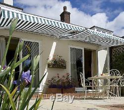Primrose Auvent Manuel Jardin Pare-soleil Rétractable Ombre Abri Extérieur