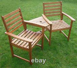 Quality Love Seat Companion Set Banc En Bois Franc Meubles De Jardin Livraison Gratuite