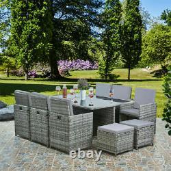 Rattan Garden Furniture Cube Set Chairs Sofa Table Outdoor Patio Wicker