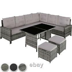 Rattan Garden Furniture Lounge Set Dining Group Coin Canapé Table Patio Extérieur
