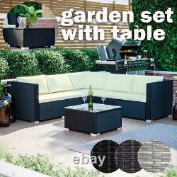 Rattan Garden Furniture Set Wicker Sofa Table Outdoor Dining Bench Patio Malte