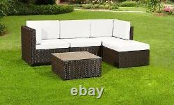 Rattan Garden Meubles Patio Corner Canapé Set Table De Salon Conservatoire Extérieur