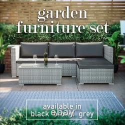 Rattan Garden Patio Furniture Set Sofa Bench Table À Manger Extérieur 4 Places