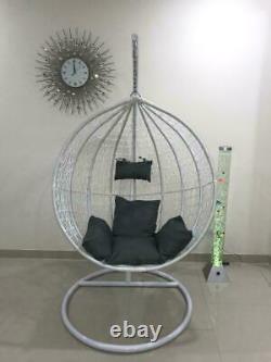 Rattan Swing Patio Garden Tissage Chaise D'oeuf Suspendu Aveccushion Dans Ou En Plein Air
