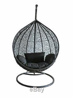 Rotin Balancelle Extérieur Jardin Patio Suspendu En Osier Weave Hamac Chaise Pod