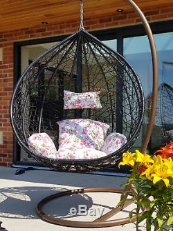 Rotin Balancez Patio Jardin Suspendu Egg Chair Coussin Mobilier De Jardin