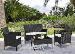 Rotin Meuble De Jardin Conservatoire Patio Extérieur Table Chaises Sofa