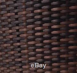 Rotin Meubles De Jardin Ensemble 4 Chaises Piece Sofa Table Patio Extérieur En Osier