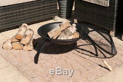 Round Fire Pit Pliant Patio Jardin Bowl Extérieur Camping Patio Heater Log Burner
