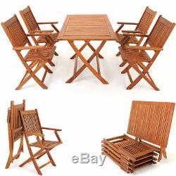 Salle À Manger En Bois Ensemble Chaise De Jardin Sydney Table Mobilier D'extérieur Conservatoire