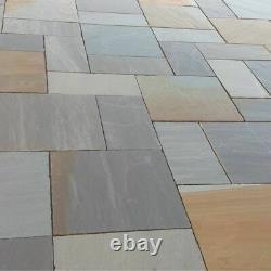Sandstone Indien Mélangé Naturel Paving Slab Rustic Grey Garden Patio Taille Mixte