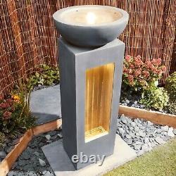 Serenity Cascade Garden Caractéristique De L'eau Fontaine Extérieure Led Light Patio Decor Nouveau