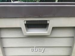 Starplast Extérieur Jardin Rangement Utilitaire Coffre Coussin Box Case 440l Sit On Couvercle