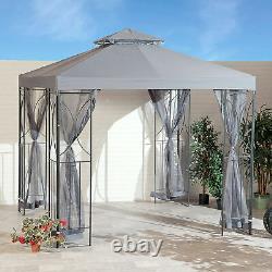 Suntime Polenza 2.5m Jardin Gris Gazebo Patio Extérieur Party Sun Tent Canopy