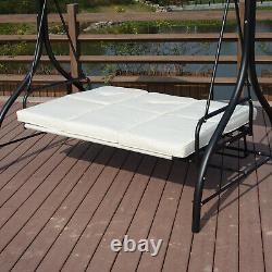 Swing Hammock Chair Seat Bed Réglable Canopy Garden Meubles En Métal Extérieurs