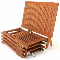 Table De Jardin Chaise Set Meubles De Patio Extérieur En Bois 4 Pièces 5 Seater Salle À Manger