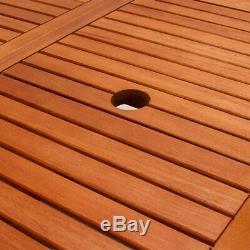 Table De Jardin En Bois Mobilier D'extérieur À Manger Eucalyptus 6 Seater Patio 160x85 CM