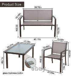 Table De Meubles De Jardin + 3 Chaises Ensembles Patio/jardin/extérieur/conservatoire/balcon