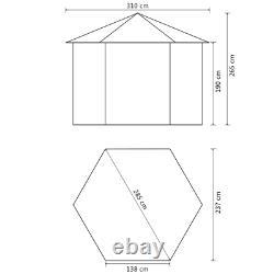 Tente De Belvédère Auvent Avec Rideau Temps Résistant À La Terrasse De Jardin De Jardin En Plein Air Neuf