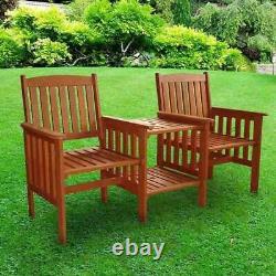 Tropicana Chaise En Bois Love Chaise Table Banc Jardin Patio Meubles D'extérieur