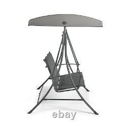 Vonhaus 3 Seater Swing Siège Avec Canopy Outdoor Garden Patio Swinging Chair