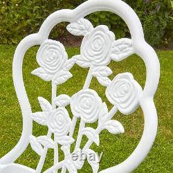 White Bistro Set Outdoor Patio Garden Furniture Table Et 2 Chaises En Métal