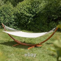 XXL Pine En Bois Double Hamac Patio Extérieur Sun Garden Louncer Meubles